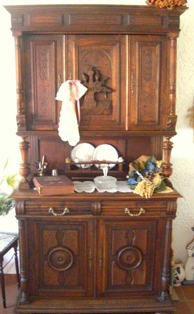 Wohnzimmerschrank Buffet Um 1900