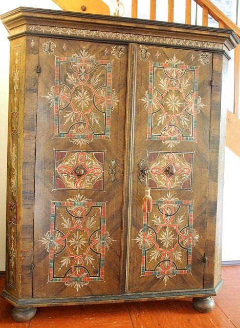 barocker bauernschrank 1787 die kunst und. Black Bedroom Furniture Sets. Home Design Ideas