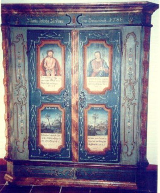 Allgäuer Bauernschrank (1788)   Die Kunst und Antiquitätenbörse